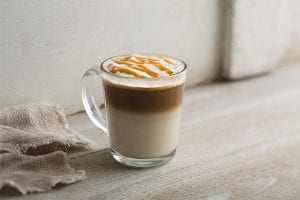 Salted Caramel Soft Cream Latte
